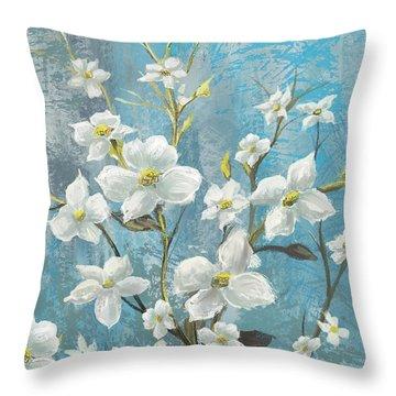 White Bloom Throw Pillow by Anthony Christou