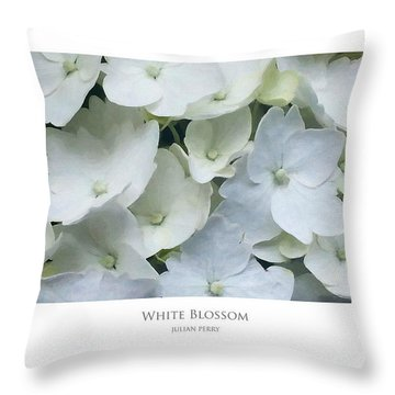Throw Pillow featuring the digital art White Blossom by Julian Perry