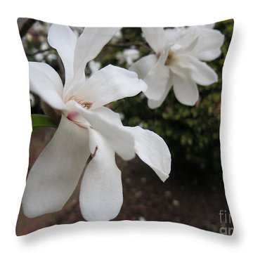 Throw Pillow featuring the photograph White Blossoms by Rod Ismay