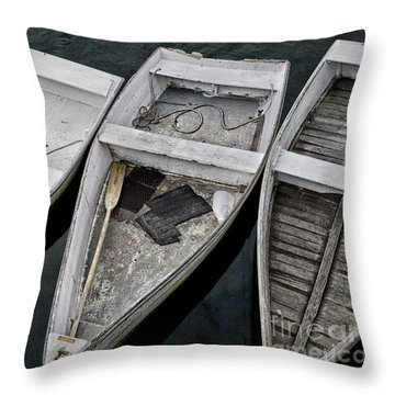 White Boats Throw Pillow