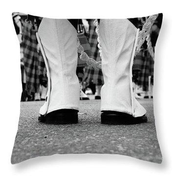 White Boots  Throw Pillow
