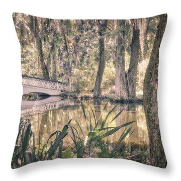 Throw Pillow featuring the photograph White Bridge by Michael Colgate