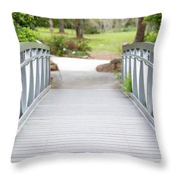 White Bridge Throw Pillow