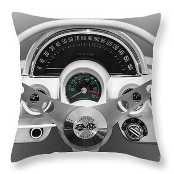 Throw Pillow featuring the photograph White C1 Dash by Dennis Hedberg