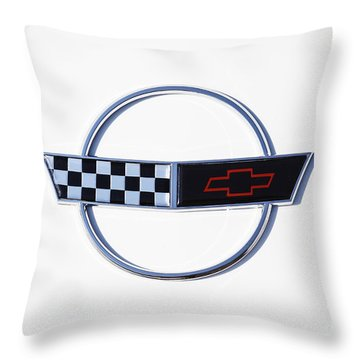 White C4 Corvette Throw Pillow