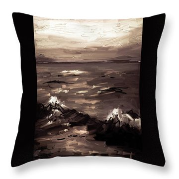 Throw Pillow featuring the digital art White Caps by Jim Vance