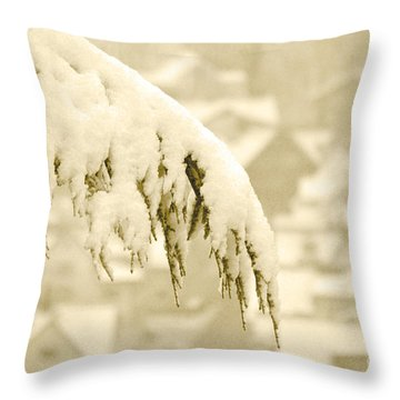 Throw Pillow featuring the photograph White Christmas - Winter In Switzerland by Susanne Van Hulst