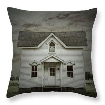 White Clapboard Throw Pillow