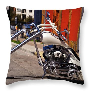 White Cobra Throw Pillow by Charles Dobbs