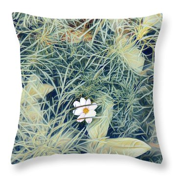White Cosmo Throw Pillow