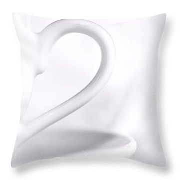 White Cup And Saucer Throw Pillow