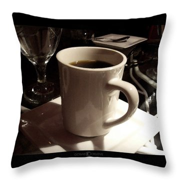 White Cup Throw Pillow