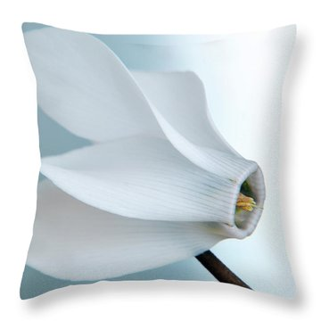 White Cyclamen. Throw Pillow
