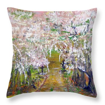 White Delight Throw Pillow