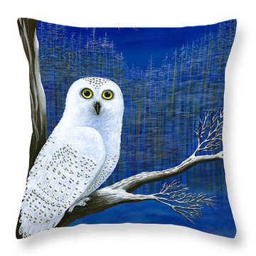 White Delivery Throw Pillow by Rebecca Parker