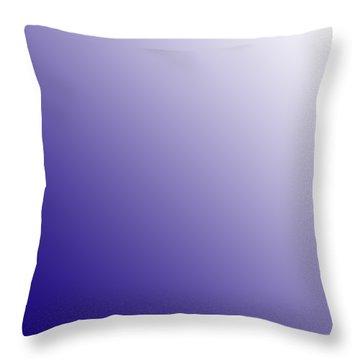White Diagonal Ombre Throw Pillow