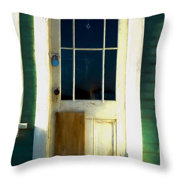 White Door -da- Throw Pillow