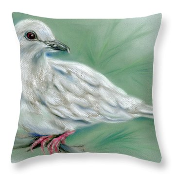 White Dove In The Pine Throw Pillow