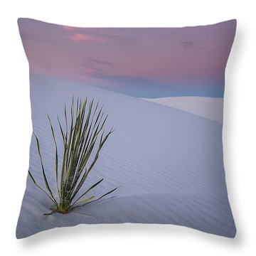 White Dunes Throw Pillow