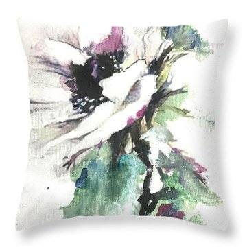 Throw Pillow featuring the painting White Enchantment by Diane White