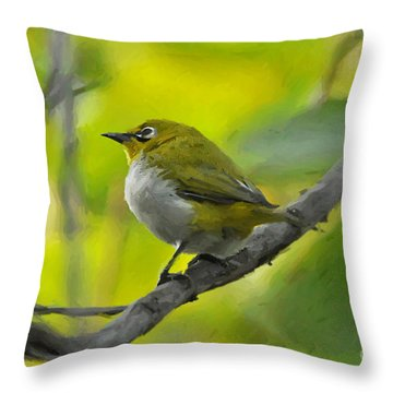 White Eye 1 Throw Pillow
