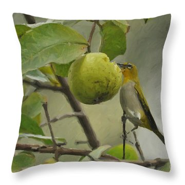 White Eye 2 Throw Pillow