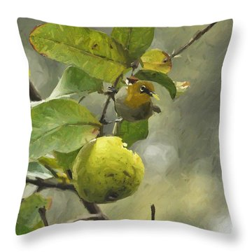 White Eye 3 Throw Pillow