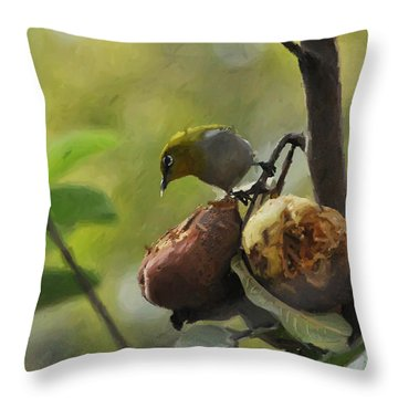 White Eye 4 Throw Pillow