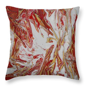 Throw Pillow featuring the mixed media White Flight by Angela Stout