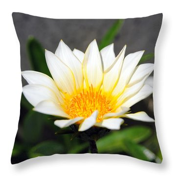White Flower 3 Throw Pillow by Isam Awad