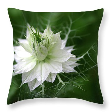 Throw Pillow featuring the photograph White Flower by Emanuel Tanjala