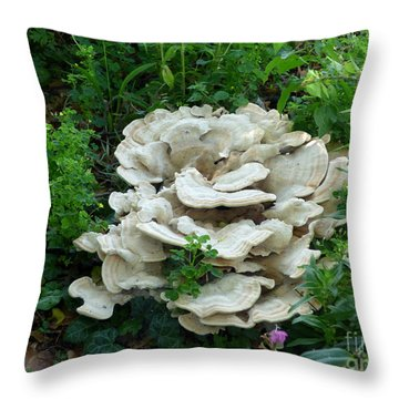 White Fungus Throw Pillow