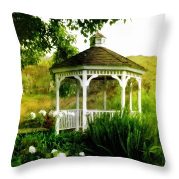 White Gazebo Throw Pillow