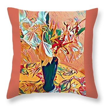 White Ginger In Pink Throw Pillow