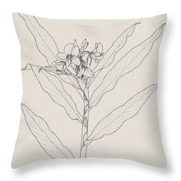 White Ginger Throw Pillow