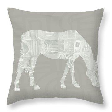 White Horse 2- Art By Linda Woods Throw Pillow