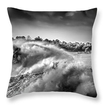 Throw Pillow featuring the photograph White Horses by Chris Cousins