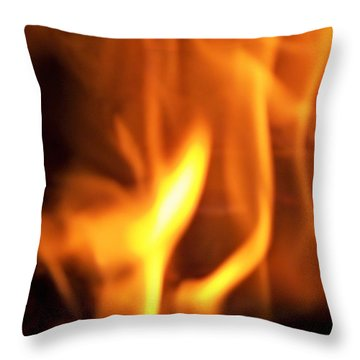 Throw Pillow featuring the photograph White Hot by Betty Northcutt