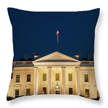 Throw Pillow featuring the photograph White House At Twilight by Andrew Soundarajan