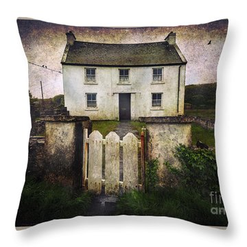 Throw Pillow featuring the photograph White House Of Aran Island by Craig J Satterlee