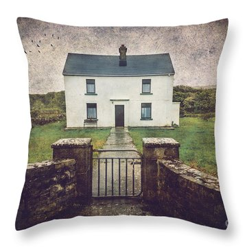 Throw Pillow featuring the photograph White House Of Aran Island I by Craig J Satterlee