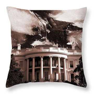 White House Washington Dc Throw Pillow by Gull G