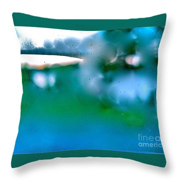 White Ice Throw Pillow