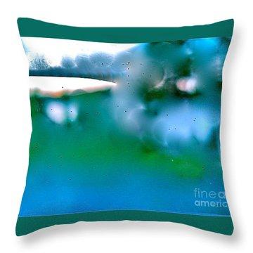 White Ice Throw Pillow by Patricia Schneider Mitchell
