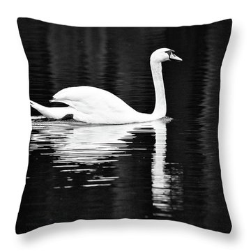 White In Black  Throw Pillow