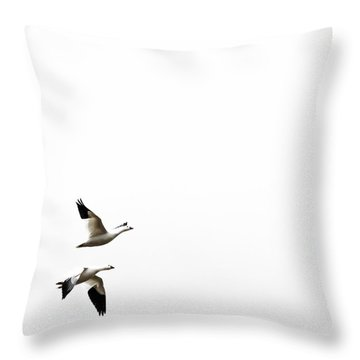 White In Flight Throw Pillow