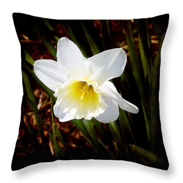 White In Nature Throw Pillow