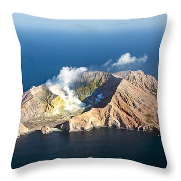 White Island Throw Pillow