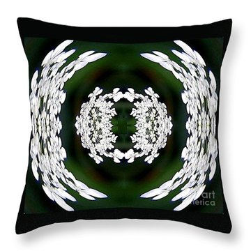 Throw Pillow featuring the digital art White Lace by Charles Robinson