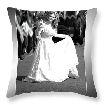 White Lady Throw Pillow